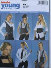 Burda Sewing Pattern 7876 Young Misses Close Fitting Accessories Vest Belt 6-20
