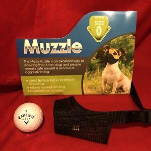 Dog Muzzle Size 0 Black Padded Nylon 11cm Yorkshire Terrrier Minature Poodle Etc