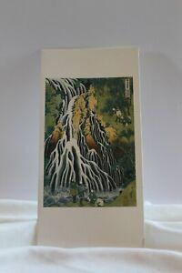 Phaidon Press Japanese Art Blank Card Katsushika Hokusai Kirifuri Waterfall