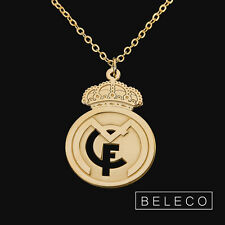Real Madrid Necklace Football Fans Club Gold Plated Gift soccer Charm Pendant