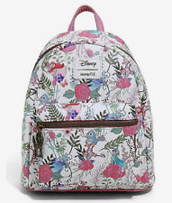 Disney Loungefly Sleeping Beauty Flowers Fairies And Birds Mini Backpack Bag