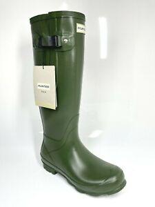 Hunter Norris Adjustable Boots UK5 EU38 Vintage Green Wellies Wellingtons Rain