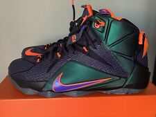 8d528a5441f Preowned Men s Nike LEBRON XII 12 Instinct Cave Purple HYPER Grape Size 10.5