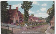 Berkshire; Lockinge Village PPC Feltham 1909 PMK to Mrs Moore, Birmingham
