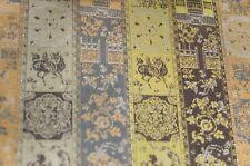 Vintage TATSUMURA Silk Brocade Tasseled TEXTILE Throw Table Cover UU924
