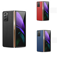 Leather Cellphone Frame Protective Shell Case Cover for Samsung Galaxy Z Fold 2