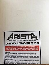 Arista Ortho Litho Film 3.0 50 sheets/ 3.9x4.9 *will fit 4x5 film holders*
