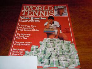 """VINTAGE JANUARY 1984 """" WORLD TENNIS """" MAGAZINE - AARON KRICKSTEIN COVER"""