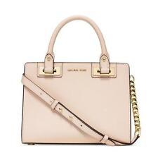 NWT MK Michael Kors Quinn Medium Saffiano Leather Satchel Handbag Ecru/Gold
