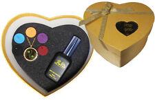 BoVito® coffret cadeau parfum floral femme collier diffuseur de parfum au choix