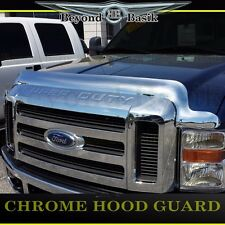 2008 2009 2010 Ford Super Duty Chrome Hood Bug Shield Deflector WRAPAROUND