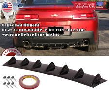 "33"" x 6"" Gloss Black Rear Bumper Valance Diffuser 7 Shark Fins For Toyota Scion"