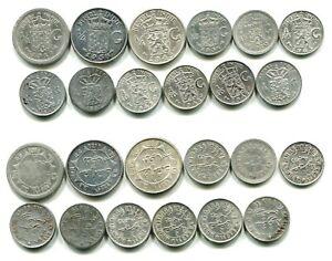 12 alte Silbermünzen Niederländisch-Indien 1858-1943     #11