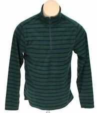 3c79f4f0 New Lands End Mens Striped Long Sleeve 1/4 Zip Pullover Fleece Sweatshirt S  NWT