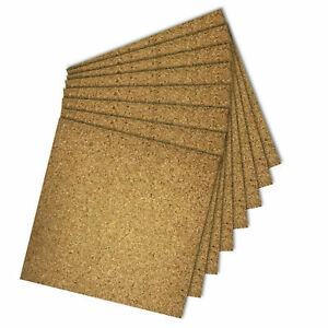 Natural Cork Tiles for Floor / Wall / DIY 300x300mm ( 4mm thick) SELF ADHESIVE