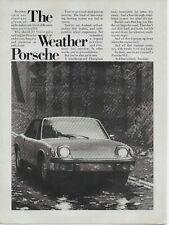 1973 Porsche 914 Weather Mid-Engine Original Vintage Print Ad