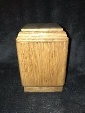 Vertical Oak Pet Urn, Small Dog Urn, Cat Urn