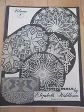 CROCHET PATTERN BOOK ELIZABETH HIDDLESON VOLUME 8 DOILIES PEACOCK TABLE TOPPERS