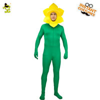 Men Sun Flower Costume Carnival Party Adult Sunflower Cosplay Fancy Jumpsuit