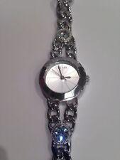 Guess Women's Silver-Tone Pretty Petite w/ Swarovski Crystal Watch - U0752L1