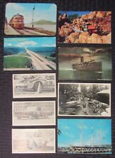 Vintage Mixed LOT of 9 POST CARDS Transportation / Automobilia VG+ to FVF