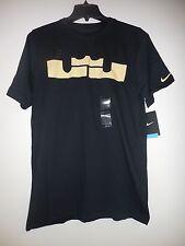 Nike Men's Dri-Fit Black Short Sleeve LebronJamesBasketball T-Shirt 451217 M-2XL