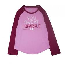 Under Armour Girls You Sweat I Sparkle Top Size 4