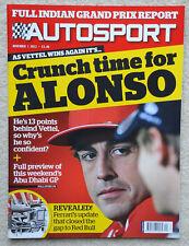 Autosport Revista 1st noviembre de 2012-India GP, Fernando Alonso