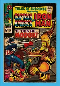 TALES OF SUSPENSE # 94 VG (4.0) 1st APPEARANCE of MODOK_CAPT. AMERICA_CENTS_1967