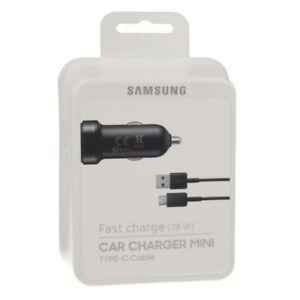GENUINE Samsung Mini Car 11-30V Adaptive Fast Charger 9V USB C Galaxy S8 S8+ s9