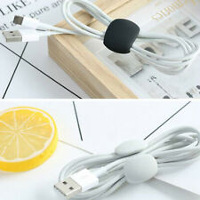 4x Cable Winder Simple Round Clip USB Charger Holder Desk Tidy Organiser Wire_gu