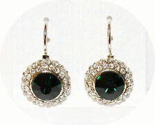 Rhinestone Drop/Dangle Round Stone Costume Earrings