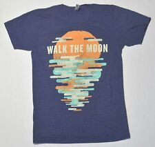Men's WALK THE MOON Blue T-Shirt Top Short Sleeve Cotton Blend Size Small S