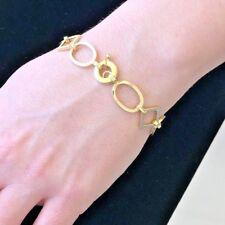 Stunning Classy Lovely Multi link 18KY Gold Ladies Italian bracelet