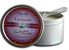 6OZ LAVENDER SUNTOUCHED CANDLE MASSAGE OIL handy spoon for dispensing NEW