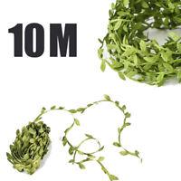 10M Artificial Garland Fake Plants Leaf Vine Crafts Floral Home Party Decoration