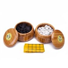 Melamine Single Convex Stones and Bamboo Bowls Go Game Set Wei Qi
