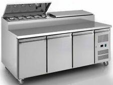 Empire SH3000-700 3 Door Pizza Prep Table Refrigerator - Stainless Steel