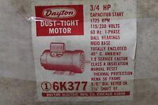 Dayton Dust-Tight Motor 3/4HP - 115/230V - 1725RPM - 56 FRAME - 6K377