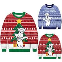 Men Women Couples Christmas Ugly Sweater Pullover Xmas Jumper Tops Jacket Coats