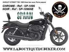 SISSI-BAR HD STREET 750 / 500...AVEC PORTE PAQUET CHROME...SP1096 CHROME..SPAAN-