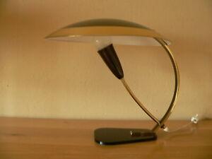 Schreibtischlampe Messing Schwarz Italien 1950er Stilnovo Fontana Arte ?