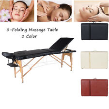 "84""L Massage Table Portable 3 Folding Facial Spa Bed Tattoo Home W/ Case New"