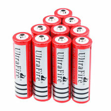 10Pc 18650 3.7V 3000mAh Li-ion Rechargeable Battery Cell For Torch Flashlight Us