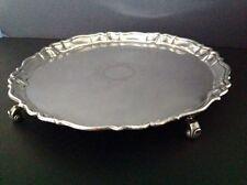 Large John Tuite Georgian Antique English Sterling Silver Salver London 1734