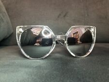 a5666f20364 Quay Australia Sunglasses Women s GIVE AND TAKE Clear Silver NWT incl. Soft  Case