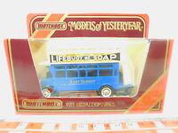 BO964-0,5# Matchbox Bus/Omnibus Y-23 1922 Aecomnibus Lifebuoy Soap, NEUW+OVP