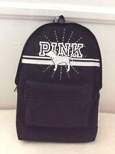 Victoria's Secret PINK Bling Rhinestone Dog Logo Campus Backpack