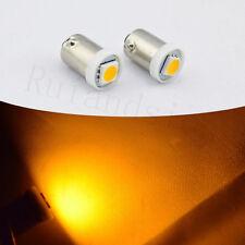 20Pcs BA9s 1895 H6W 53 57 Bayonet LED Light Bulbs For Car Map Lamp 12V NEW Amber