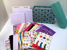 Greeting Cards in a Decorative File Box w/ 24 Cards & Envelopes Organizer